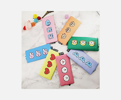 Picture of 1 Pc Pen Bag Cartoon Animal Pattern Design Zipper All Match School Supply - Size: One Size