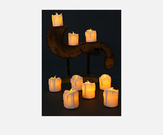 Picture of 10Pcs Electronic Candles Creative LED Simulated Candles - Size: One Size