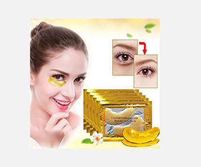 Picture of 10Pcs Crystal Collagen Gold Powder Eye Mask Remove Dark Circles Soothing Eye Patches -