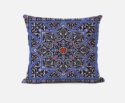 Picture of 1Pc Cushion Case Bohemian Ethnic Style Geometric Pattern Linen Square Car Bed Sofa Decorative Pillow Cover