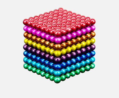 Picture of 216Pcs 5MM Buck Decompression Magnetic Ball Colorful Magnetic Cube Puzzle Decompression Toy -