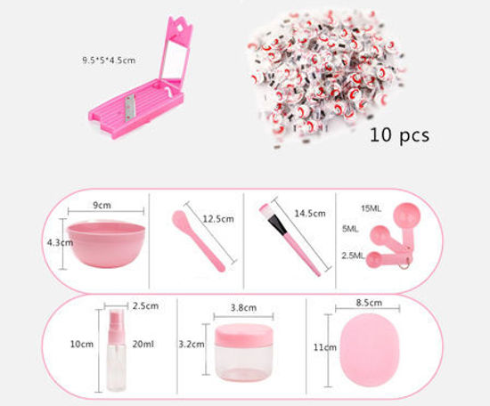 Picture of 20 Pieces Skin Care Tools DIY Facial Mask Tools Skin Care Kits -