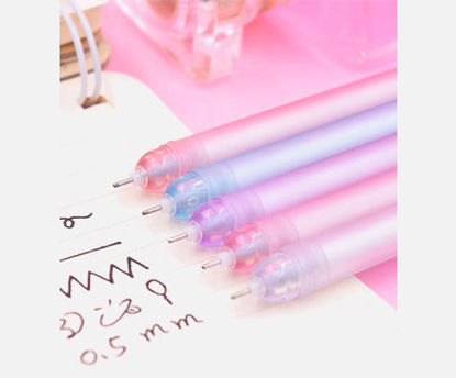 Picture of 2/6 Pcs Gel Pens Set Cartoon Cute Candy Color Lightning Stationery Set -