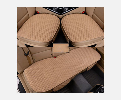 Picture of 3Pcs/Set Car Seat Mats Solid Color Breathable Seat Covers