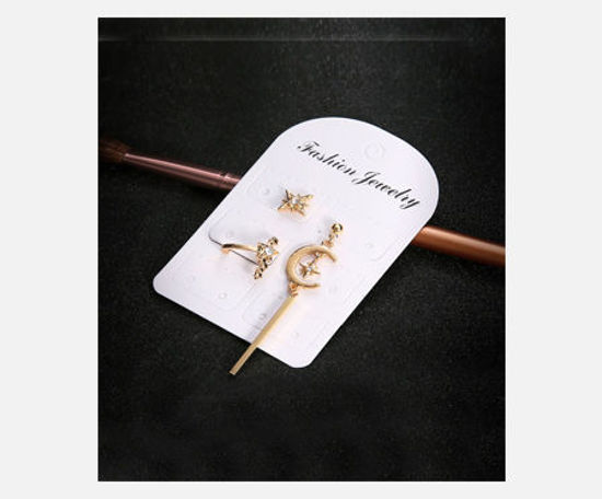 Picture of 3Pcs Women's Stud Earrings Elegant Rhinestone Inlay Chic Earrings Accessory - Size: One Size