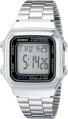 Picture of Casio Men's Classic Quartz Watch with Stainless-Steel Strap, Silver, 22 (Model: EAW-A-178WA-1)