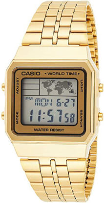 Picture of CASIO Men's Digital World TIME A500WGA-9DF Stainless Steel Watch