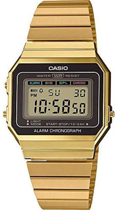 Picture of Casio Unisex-Adult Quartz Watch, Digital Display and Stainless Steel Strap A700WG-9ADF