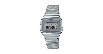 Picture of Casio Unisex-Adult Quartz Watch, Digital Display and Stainless Steel Strap A700WM-7ADF