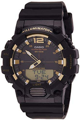 Picture of Casio Watch For Men Quartz , Analog-Digital Display and Resin Strap Hdc-700-9Avdf, Black Band