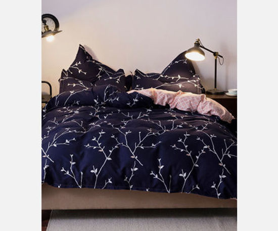 Picture of 4Pcs Bed Linen Set Modern Plain Style Personalized Beddings - Size: 2#2m Bed