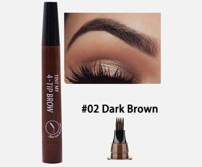 Picture of 4-tint Fine Sketch Liquid Eyebrow Pencil Waterproof Enhancer Brow Dye Tint Pen -