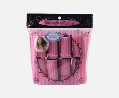 Picture of 8 Pcs Curler Makers Nighttime Soft Bendy Twist Curls DIY Styling Soft Foam Hair Rollers