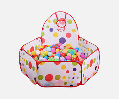 Picture of Baby Ocean Balls Tent Colorful Pattern Foldable Baby Hexagonal Tent Toy -