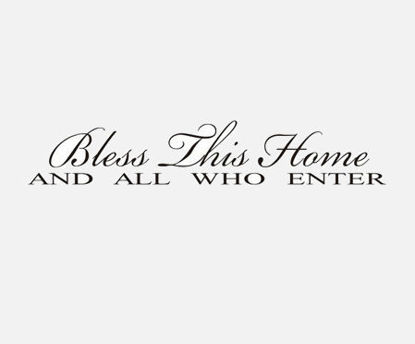 Picture of Bless Thhis Home Waterproof Wall Stickers Art