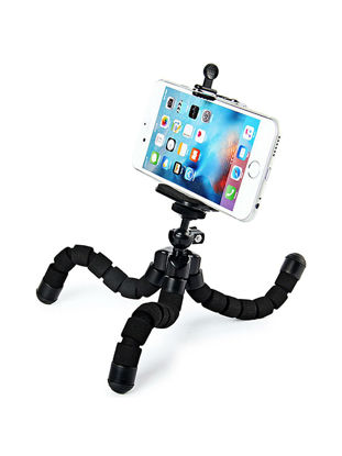 Picture of Phone Holder Portable Flexible 360 Degree Rotation Phone Camera Tripod Holder