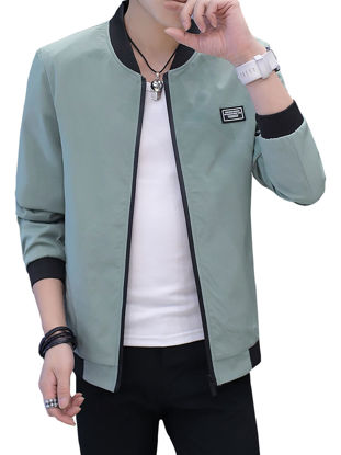 Picture of Men's Casual Jacket Fashion Solid Color Comfy All Match Jacket - XXL