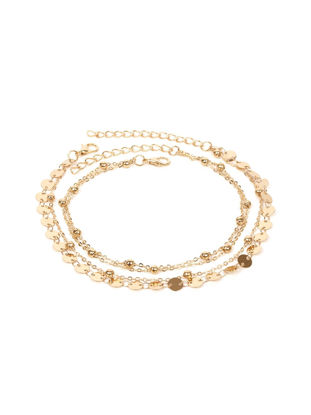 Picture of Women's Anklet Chain Metal Sequins Double Layer Design Trendy All Match Anklet Chain - One Size
