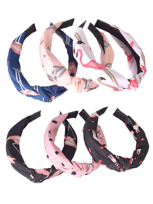 Picture of Women's 6 Pcs Hairbands Cute Stylish Cross Knot Design Accessories - One Size