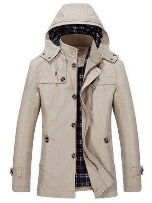 Picture of Men's Casual Jacket Fashion zipper Hooded Jacket - XL