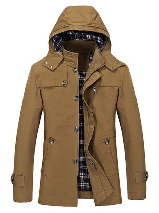 Picture of Men's Casual Jacket Fashion zipper Hooded Jacket - 3XL