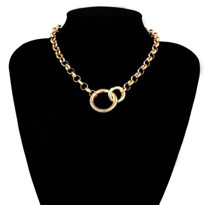 Picture of Women's Fashion Necklace Solid Color Personalized Chain Necklace Accessory - One Size