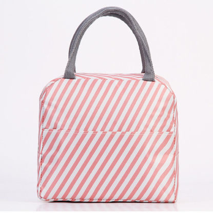 Picture of Thermal Insulated Thick Lunch Bag Fresh Style Waterproof Aluminum Foil Picnic Food Bag - One Size