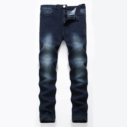 Picture of Men's Jeans Gradient Color Slim Fit Stretchy Design Denim Trousers - 32