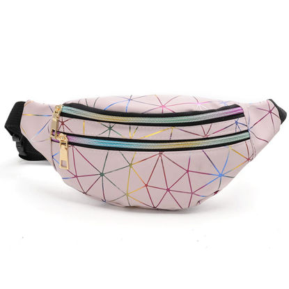 Picture of Women's Waist Bag Outdoors Geometric Pattern Sports Bum Bag - One Size