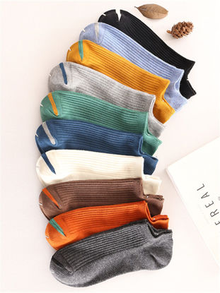 Picture of Men's 10 Pairs Sneaker Socks Candy Color Breathable Cozy Ankle Socks - Free