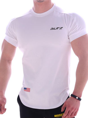 Picture of Men's T Shirt Letter O Neck Short Sleeve Top - L