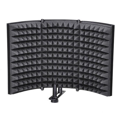 Picture of Microphone Isolation Shield Recording Sound Absorber Foam Panel