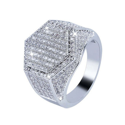 Picture of Men's Ring Rhinestone Inlay Ring Accessory - 9
