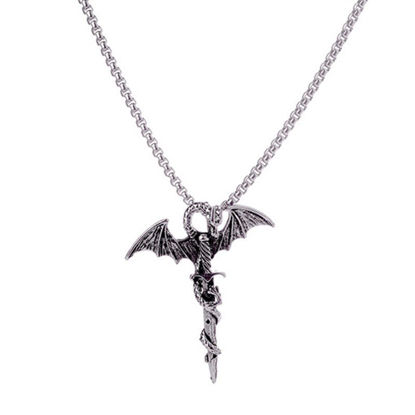 Picture of Men's Necklace Dragon Shape Pendant Fashion Accessory - One Size