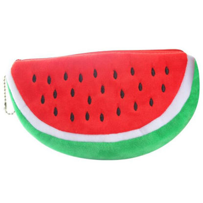 Picture of Kids' Pencil Bag Creative Watermelon Shape Cute Stationery - One Size