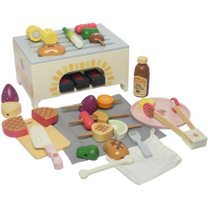Picture of Simulated Foods BBQ Fruit Vegetable Meat Oven Pretend Toy