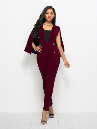 Picture of Women's Jumpsuit Patchwork Fashion Sleeveless Jumpsuit - L
