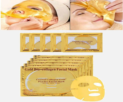 Picture of 3PCS Collagen Golden Facial Masks With 5PCS Collagen Golden Eye Masks