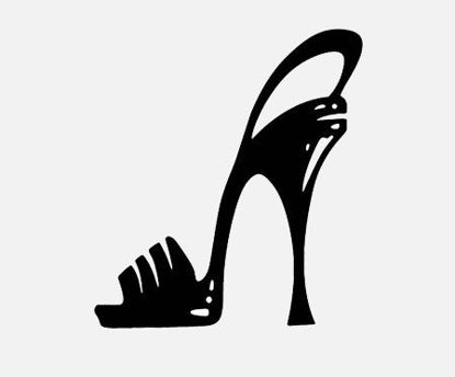 Picture of Car Sticker Funny Reflective Woman Fashion High Heel Shoe Design Removable Waterproof Vinyl Car Decal