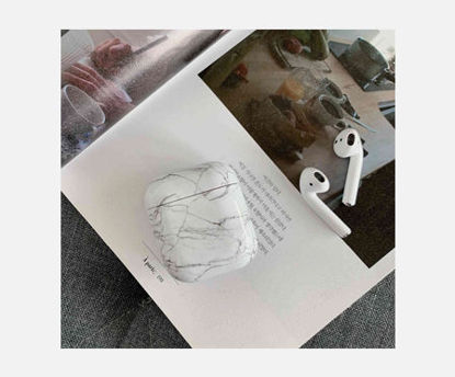 Picture of Case For AirPods Colorful Marble Pattern Protective Cover Bluetooth Earphone Cover Case For Airpods 1/2