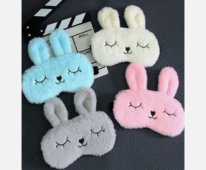 Picture of 1 Pc Eye Mask Creative Lovely Cartoon Rabbit Design Cozy Eye Blinder