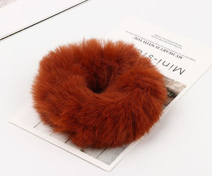 Picture of 1 Piece Women's Hair Elastic Solid Color Plush Lovely Hair Accessory - One Size