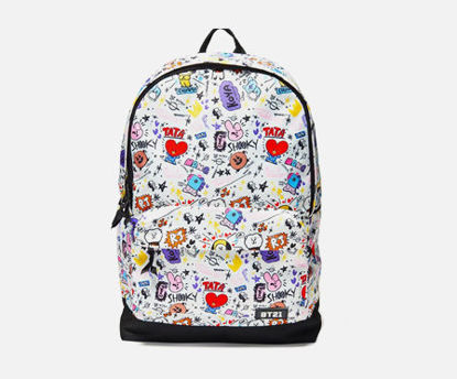 Picture of 1Pc Kid's Backpack Colorful Cartoon Pattern Unisex School Bag - One Size