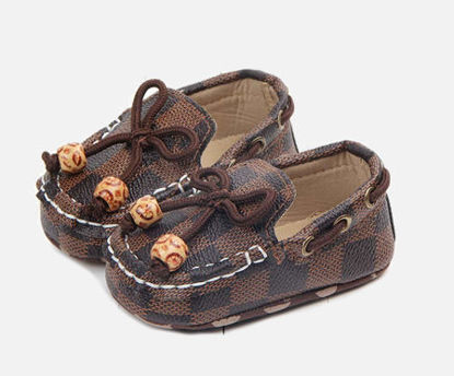 Picture of Baby's Pre-walker Shoes Plaid Pattern Comfy Fashion Casual Shoes - 12cm