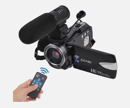 Picture of Digital Camera Night Vision Full HD 1080P 30FPS 24.0MP 16X Wifi Camcorder With Microphone