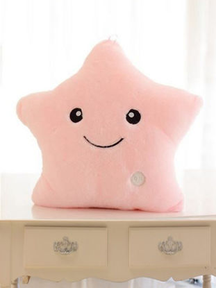 Picture of 1Pc Unique Decorative Pillow Vivid Lucky Star Design LED Light Cushion -Size: Type:Pillow