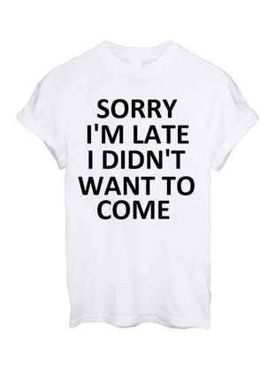 Picture of Women's T Shirt O Neck Classic Letter Short Sleeve T Shirt -Size: L