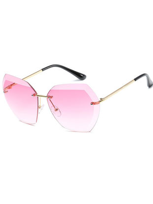 Picture of Women's Sunglasses Rimless Cutting Crystal Alloy Clear Gradient Accessory -Size: One Size
