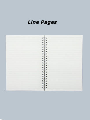 Picture of A5 Notebook DIY Blank Page Line Page Diary Book Planner Travel Notepad