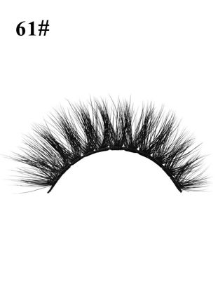 Picture of 1Pair Artificial Eyelashes Curling Natural Mink Dense Eyelashes